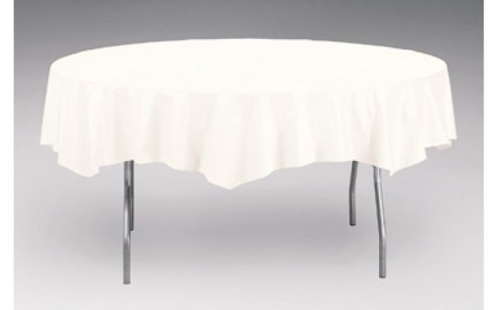 Round Polytissue Table Covers, Round Paper Table Covers White