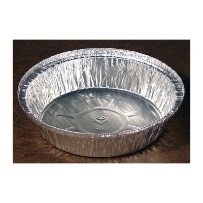 """Pactiv Y52725 7"""" Aluminum Carry Out Containers, Round, 24 oz - 250 / Case"""