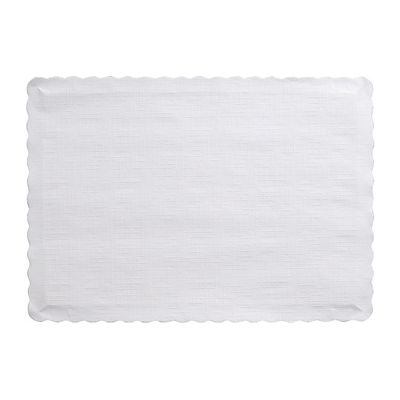 "Creative Converting 863272B Touch of Color Paper Placemats, 14.5"" x 10"", White - 600 / Case"