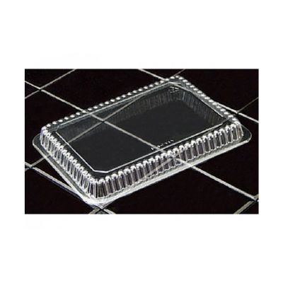Pactiv YP7680000000 Plastic Dome Lids for 1.5 and 2.25 lb Aluminum Pans, Clear - 800 / Case