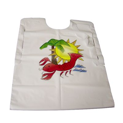 "AEP 2BBL-RSD Plastic Lobster Bibs, Adult, 17"" x 23"" - 500 / Case"