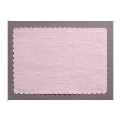 "Creative Converting 863274B Touch of Color Paper Placemats, 14.5"" x 10"", Classic Pink - 600 / Case"