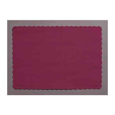"Creative Converting 863122B Touch of Color Paper Placemats, 14.5"" x 10"", Burgundy - 600 / Case"