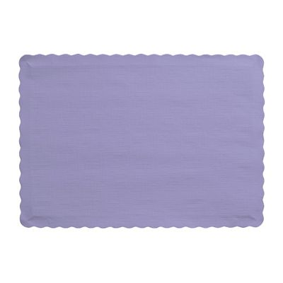 "Creative Converting 863265B Touch of Color Paper Placemats, 14.5"" x 10"", Luscious Lavender - 600 / Case"