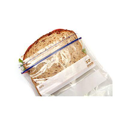 "AmerCareRoyal ZBS66 Zip-It Plastic Sandwich Bags, 6.5"" x 6"", Clear - 500 / Case"