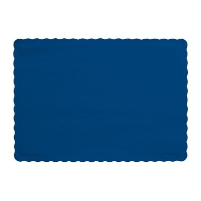"Creative Converting 863278B Touch of Color Paper Placemats, 14.5"" x 10"", Navy Blue - 600 / Case"