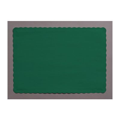 "Creative Converting 863124B Touch of Color Paper Placemats, 14.5"" x 10"", Hunter Green - 600 / Case"