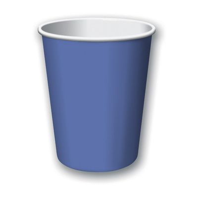 Creative Converting 56145B Touch of Color 9 oz Paper Hot / Cold Cups, True Blue - 240 / Case