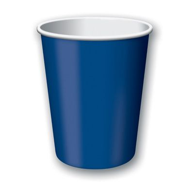 Creative Converting 561137B Touch of Color 9 oz Paper Hot / Cold Cups, Navy Blue - 240 / Case