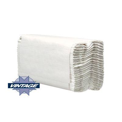 "Vintage 21120 C-Fold Paper Hand Towels, 10"" x 12.75"", White - 2400 / Case"