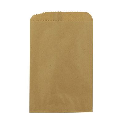 "Duro 14926 Notion Paper Merchandise Bags, 30#, 6.25"" x 9.25"", Kraft - 3000 / Case"