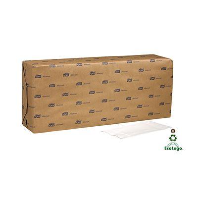 Essity NP310A Tork Advanced Paper Dinner Napkins, 2 Ply, 1/8 Fold, White - 3000 / Case