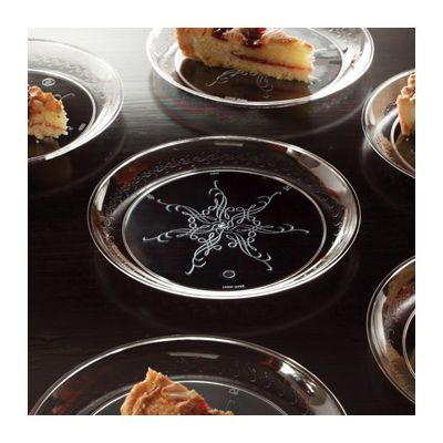 "EMI Yoshi EMI-CC006 Caterer's Collection 6"" Plastic Dessert Plates, Clear - 240 / Case"