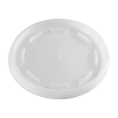 Dart 16JL Vented Plastic Lids for 12-24 oz Foam Cups, Translucent - 1000 / Case