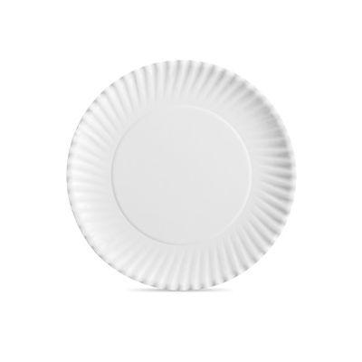 "Aspen 30500 9"" Spiral Fluted Paper Plates, White - 1000 / Case"