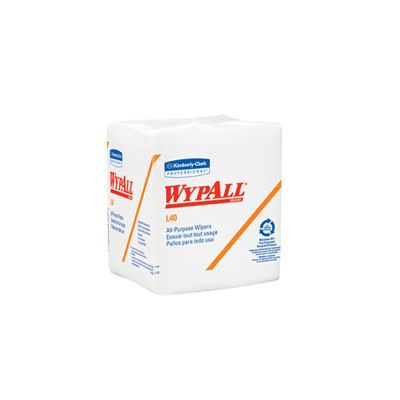 "Kimberly Clark 5701 WypAll L40 Wipers, 12.5"" x 13"", White - 1008 / Case"