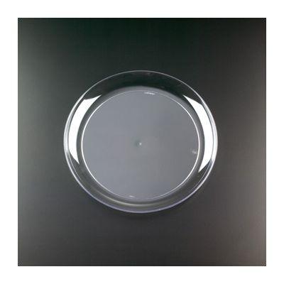 "EMI Yoshi YCW9 Clear Ware 9"" Plastic Plates - 250 / Case"