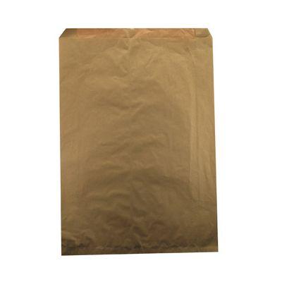"Duro 14879 Millinery Paper Merchandise Bags, 30#, 17"" x 4"" x 24"", Kraft - 500 / Case"