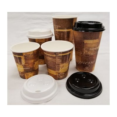 Vintage V1620HC-20C 20 oz Cafe Paper Hot Cups, Coffee Design - 500 / Case