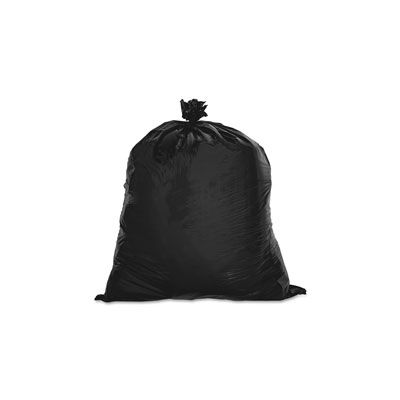 "Genuine Joe 2147 7-10 Gallon Trash Can Liners / Garbage Bags, 0.6 Mil, 24"" x 23"", Black - 500 / Case"