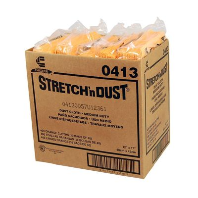"Chicopee 0413 Stretch n Dust Dusting Cloths with Microban, 12-5/8"" x 17"", Yellow Orange - 400 / Case"