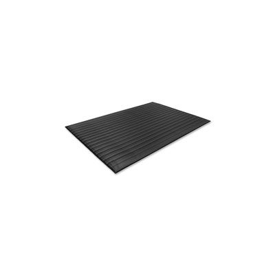 Genuine Joe 1710 Air Step Anti-Fatigue Floor Mat, Vinyl Foam, Beveled Edges, 3' x 12', Black - 1 / Case