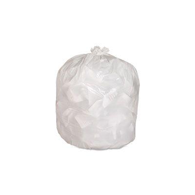 "Genuine Joe 2312 13 Gallon Kitchen Trash Can Liners / Garbage Bags, 0.8 Mil, 24"" x 31"", White - 150 / Case"