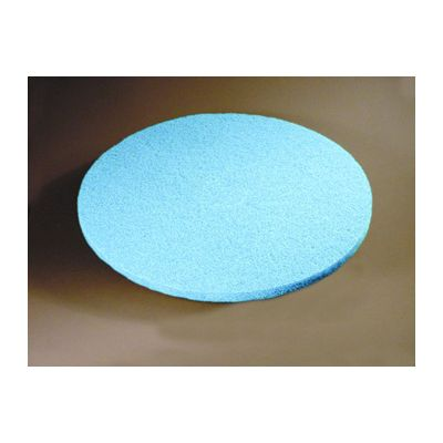 """ACS 52-27 27"""" Blue Velvet Soft Burnishing Floor Pads - 2 / Case"""