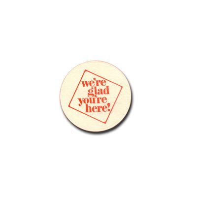AmerCareRoyal BC45-NRA Beer Coasters, 'We're Glad You're Here', Pulp Board - 4000 / Case