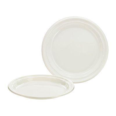 """Dart 9PWF Famous Service 9"""" Plastic Plates, White - 500 / Case"""