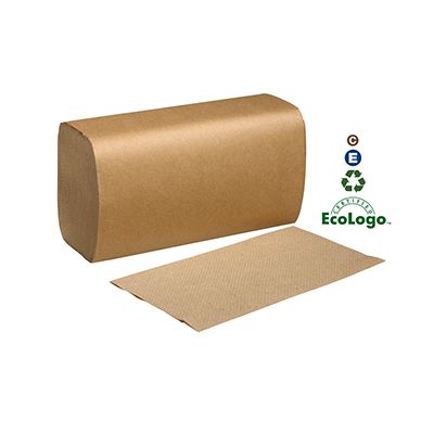"Essity SK1850A Tork Universal Singlefold Paper Hand Towels, 1 Ply, 10.3#34; x 9.1"", Brown - 4000 / Case"