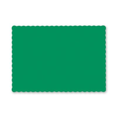 "Hoffmaster 310526/975-D29 Paper Placemats, Scalloped Edges, 9.5"" x 13.5"", Jade Green - 1000 / Case"