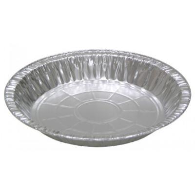 """Pactiv Y21940 9"""" Aluminum Foil Pie Pans, 1-9/32"""" Deep, 30 oz - 400 / Case"""
