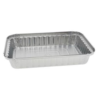 """Pactiv Y76830 1.5 LB Aluminum Foil Pan, 8"""" x 5-1/2"""" x 1-3/16"""", 25 oz - 400 / Case"""
