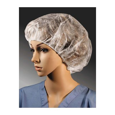"Cellucap BI400HSD Bouffant Caps, 21"", Latex Free, White - 1000 / Case"