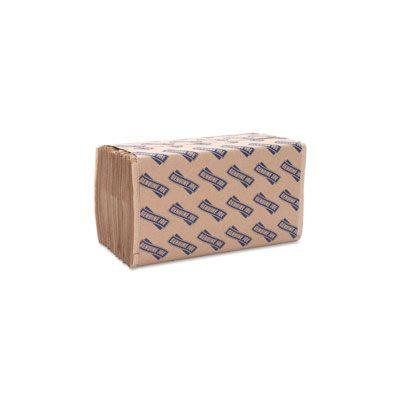 """Genuine Joe 21020 Singlefold Value Paper Hand Towels, 10.25"""" x 9.1"""", Brown - 4000 / Case"""