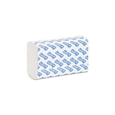 "Genuine Joe 21100 Multifold Paper Hand Towels, 9-1/2"" x 9-1/8"", White - 4000 / Case"