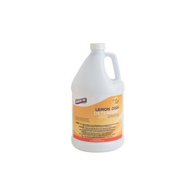 Genuine Joe 10359 Dish Detergent Liquid, Lemon, 1 Gallon - 4 / Case