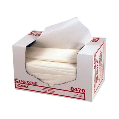"Chicopee 8470 Chix Sport Towels with Microban, 14"" x 24"", White - 600 / Case"