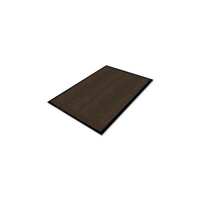 Genuine Joe 2401 Dual Rib Indoor Floor Mat, 4' x 6', Chocolate Brown - 1 / Case