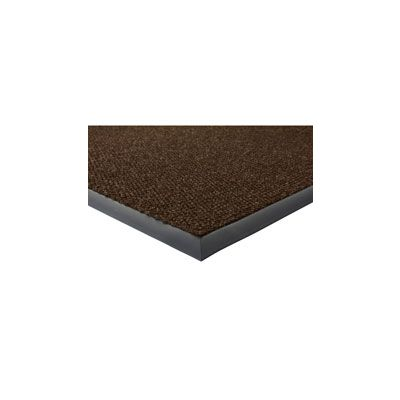 Genuine Joe 2405 Wiper / Scraper Indoor Floor Mat, Berber / Rubber, 4' x 6', Chocolate Brown - 1 / Case