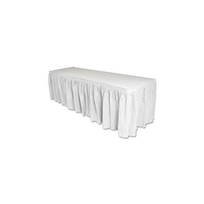 "Genuine Joe 11915 Table Skirting, 29"" x 14', White - 1 / Case"