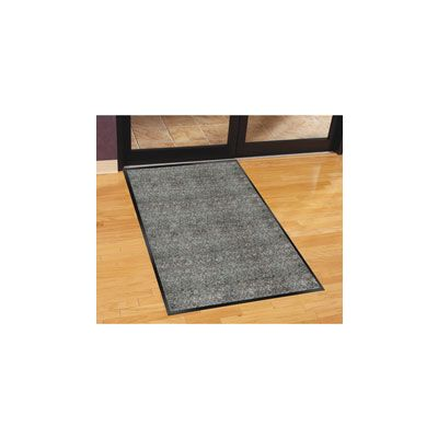 Genuine Joe 56352 Indoor Walk-Off Mat, Vinyl Back, 3' x 5', Charcoal - 1 / Case