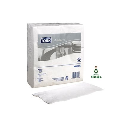 Essity NP528PA Tork Advanced Paper Dinner Napkins, 1/8 Fold, 2 Ply, White - 2800 / Case