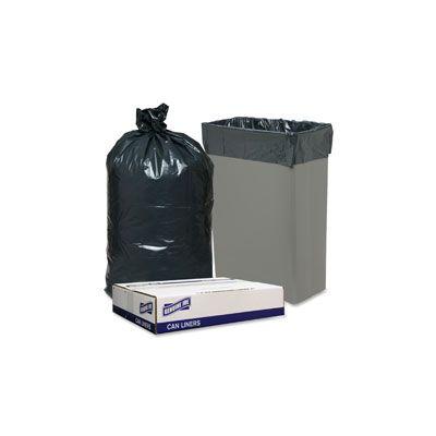"Genuine Joe 70057 23 Gallon Slim Jim Trash Can Liners / Garbage Bags, 28-1/2"" x 43"", Black - 150 / Case"