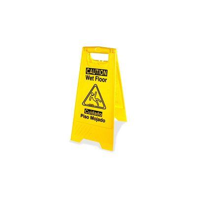 Genuine Joe 85117 Wet Floor Sign, Universal Graphic - 6 / Case