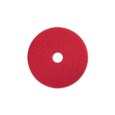 """Genuine Joe 90413 13"""" Red Buffing Floor Pad - 5 / Case"""
