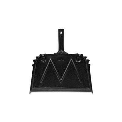 Genuine Joe 85151 Metal Dust Pan, Black - 12 / Case