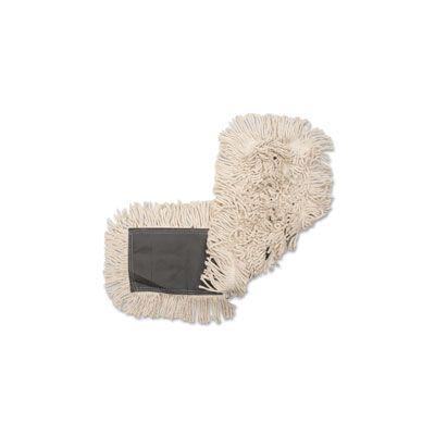 """Genuine Joe 185 Cotton Dust Mop Head Refill, 18"""" x 5"""" - 12 / Case"""