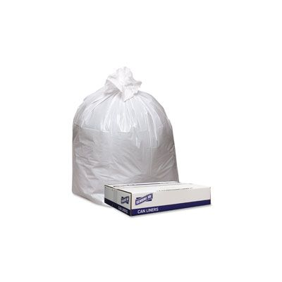 "Genuine Joe 4046W 45 Gallon Trash Bags, 0.9 Mil, 40"" x 46"" - 100 / Case"